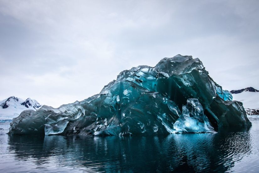 flipped over iceberg