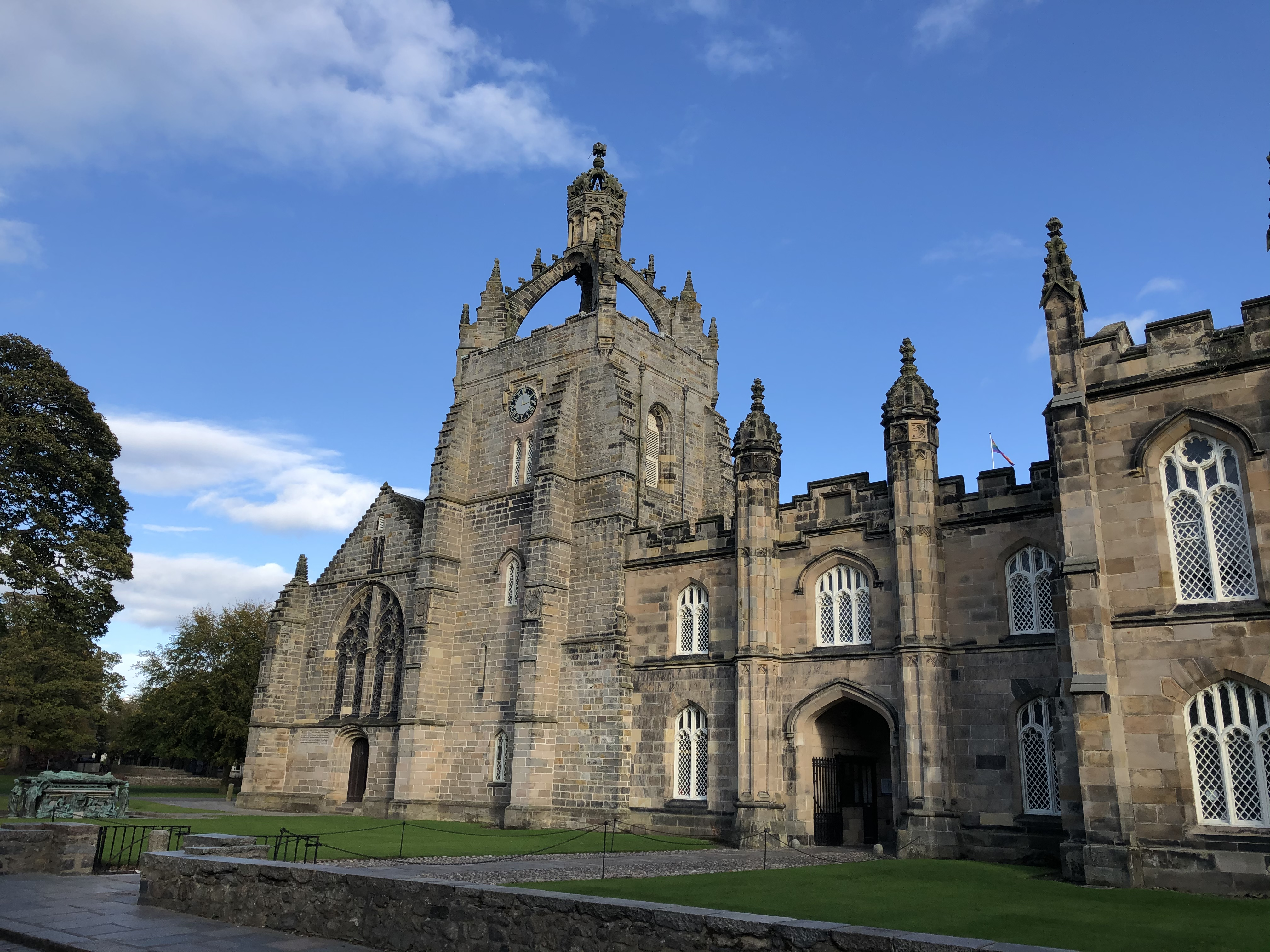 Kings College building at the University of Aberdeen